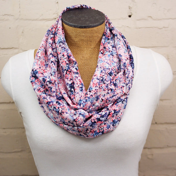 Confetti Pink Floral Infinity Scarf
