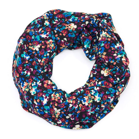 Dark and Jewel Toned Floral Infinity