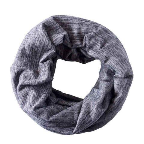 Grey Heathered Sweater Knit Infinity Scarf