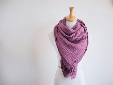 Purple Gauze Blanket Scarf