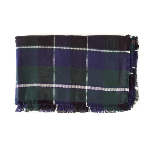 Forest Green and Navy Plaid Blanket Scarf