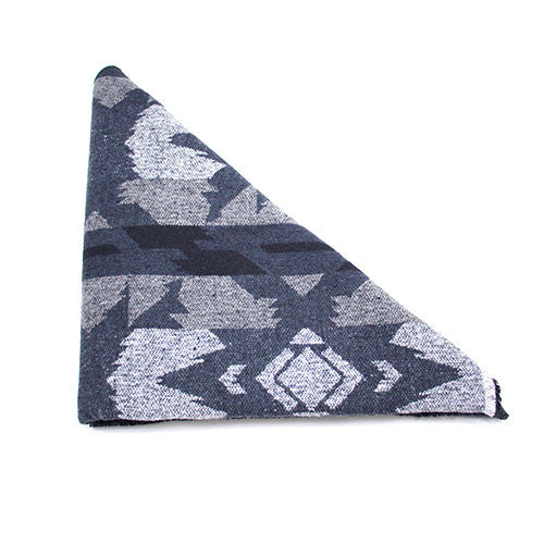 Black and Grey Aztec Triangle Scarf