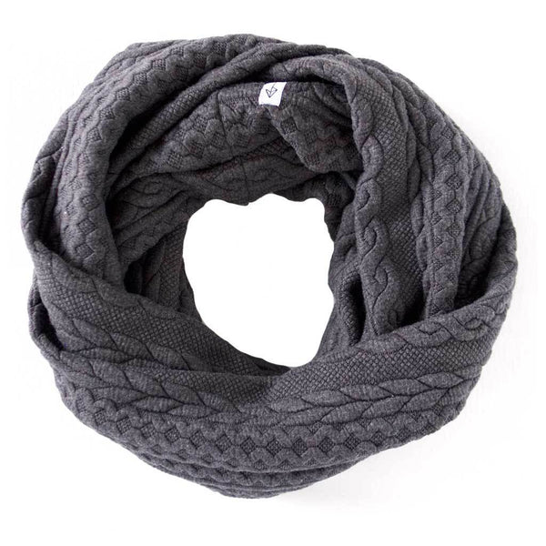 Grey Cable Knit Sweater Infinity Scarf