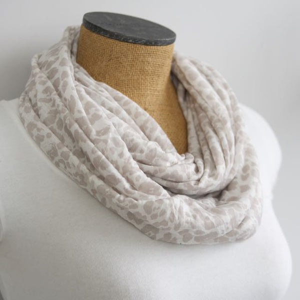 Leopard Print Jersey Infinity Scarf