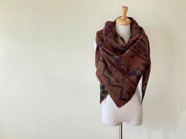 Autumn Aztec Triangle Scarf