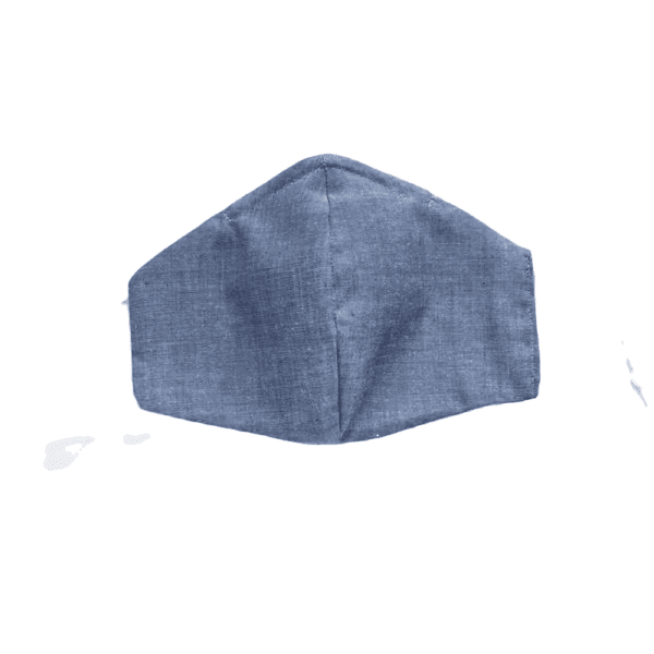 Blue Chambray, Two Layer Face Mask
