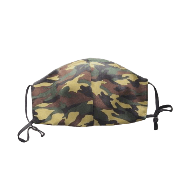 Camo Print, Two Layer Face Mask