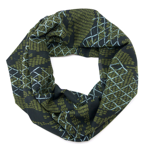 Navy Olive Abstract Infinity