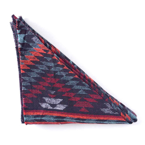 Orange, Red, Mint and Blank Southwest Triangle Scarf