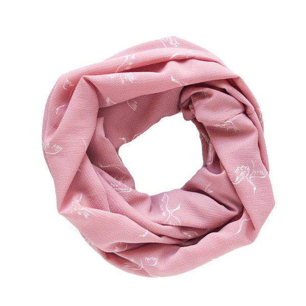 Cranes on Pink Lightweight Infinity Scarf