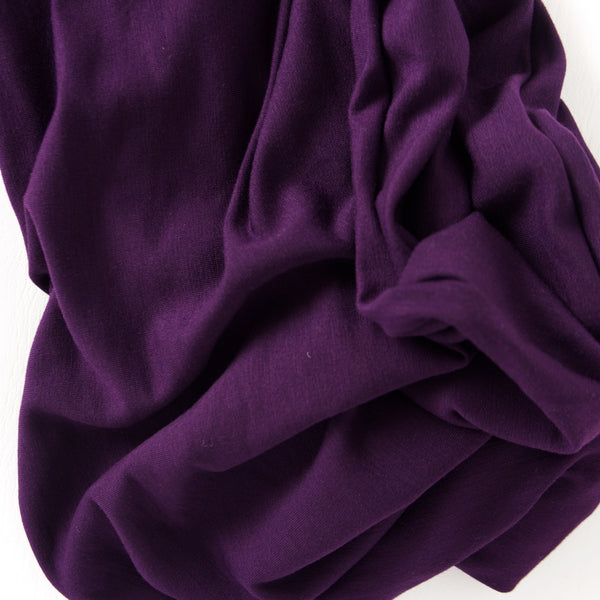 Purple French Terry Sweater Knit Infinity