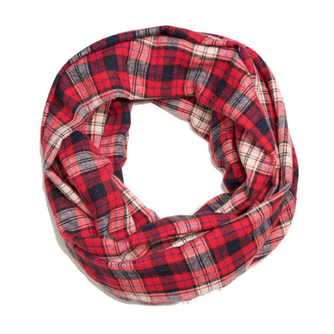 Red White Blue Plaid Flannel