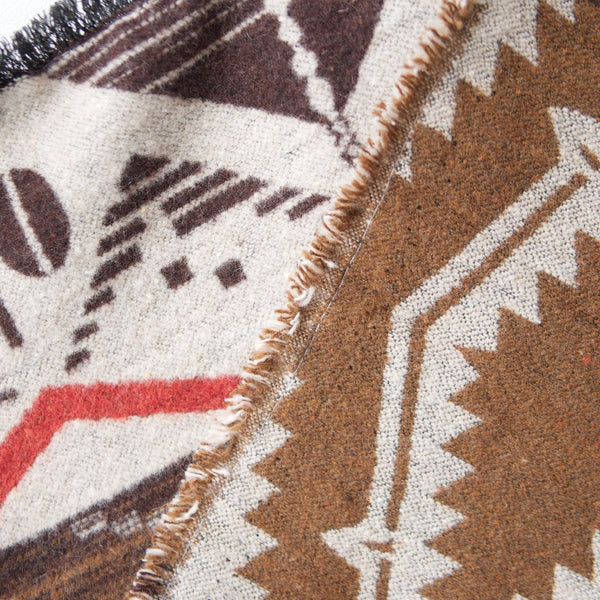 Brown, Red, Tan Aztec Triangle Scarf