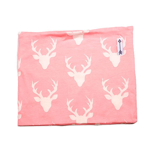 Weespoke Pink and White Deer Cowl