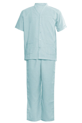 Patient Top & Pyjama - Blue Dots
