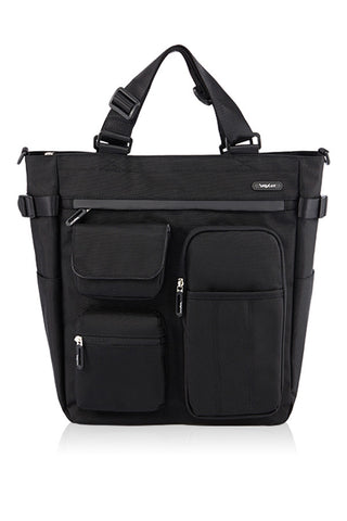 POLYESTER MULTIFUNCTIONAL 4 WAY TOTE-BLACK-3682004V