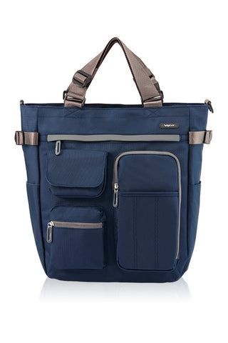 POLYESTER MULTIFUNCTIONAL 4 WAY TOTE-NAVY-3682019