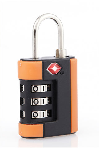 Travel Accessories-LUGGAGE TSA Approved Locks-ORANGE-3785058