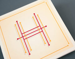 Letter H Illustrated Birthday Card – Alphabet Initial Card – Embroidery + Needlework design