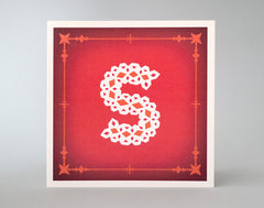 Alphabet Letter S – Monogram Letter – Illustrated Letter – Snowflake Design