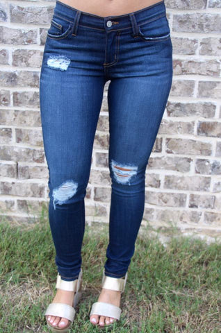 Destroyed Denim Skinny Medium Rise