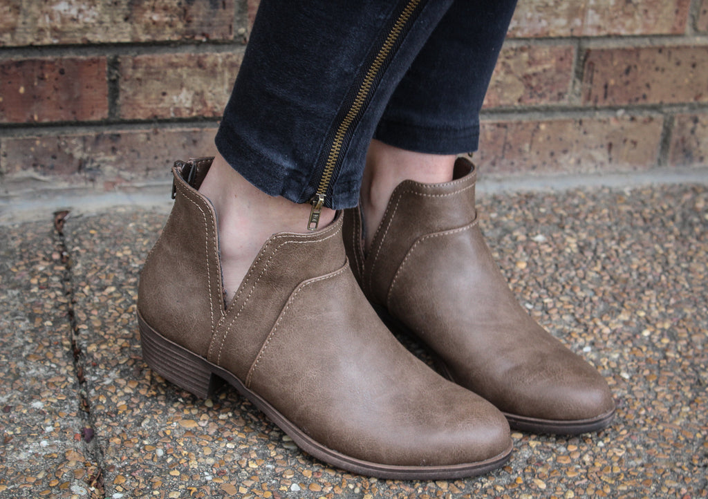 Twaney Taupe Tumbled Bootie
