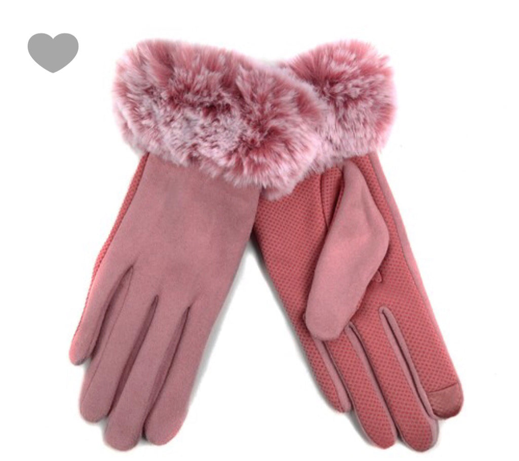 Ladies Touch Screen Non Slip Grip & Lined Gloves