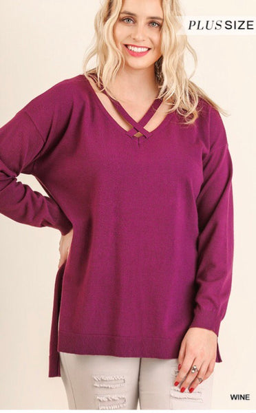 Women's Hi-Lo with Crisscross Neckline