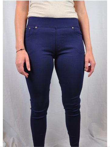Women's dark wash jegging pants