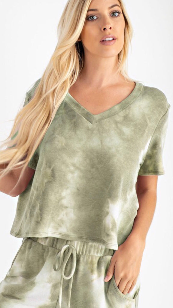 Green With Envy Lounge Top