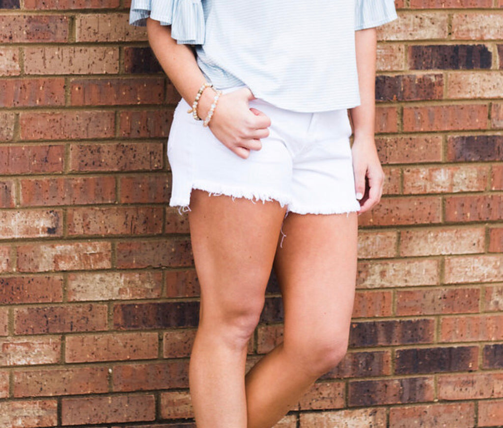 Hi and Lo Fray Hem Denim Short