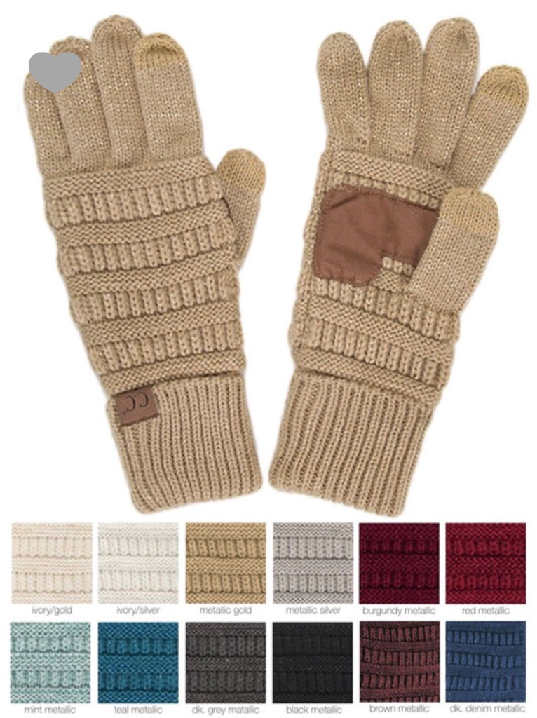CC Touch Screen Metallic Gloves