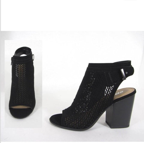 Block Heel Booties- Jamal