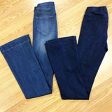 Pull On Stretch Dark Wash Flare Jeans