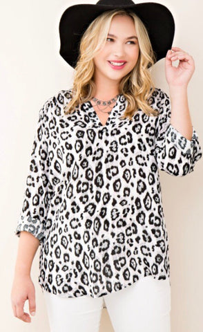 Women's Leopard Print with Side Slits