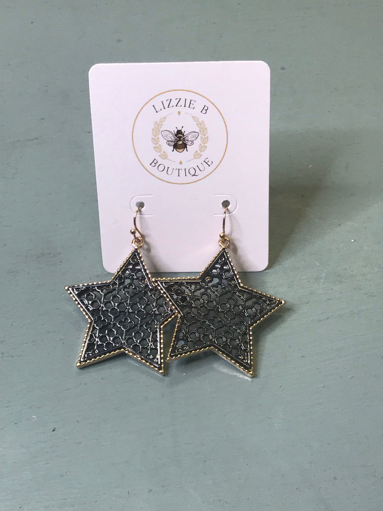 Filigree Star Earrings