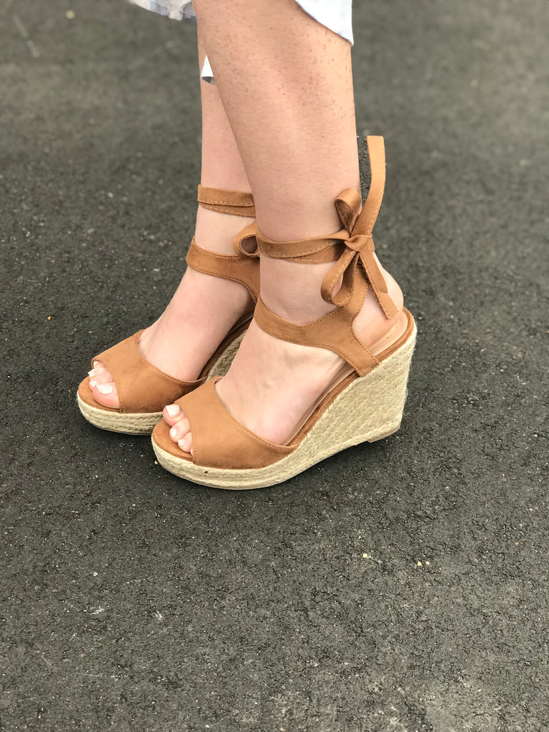 Biel Wrap Ankle Wedge
