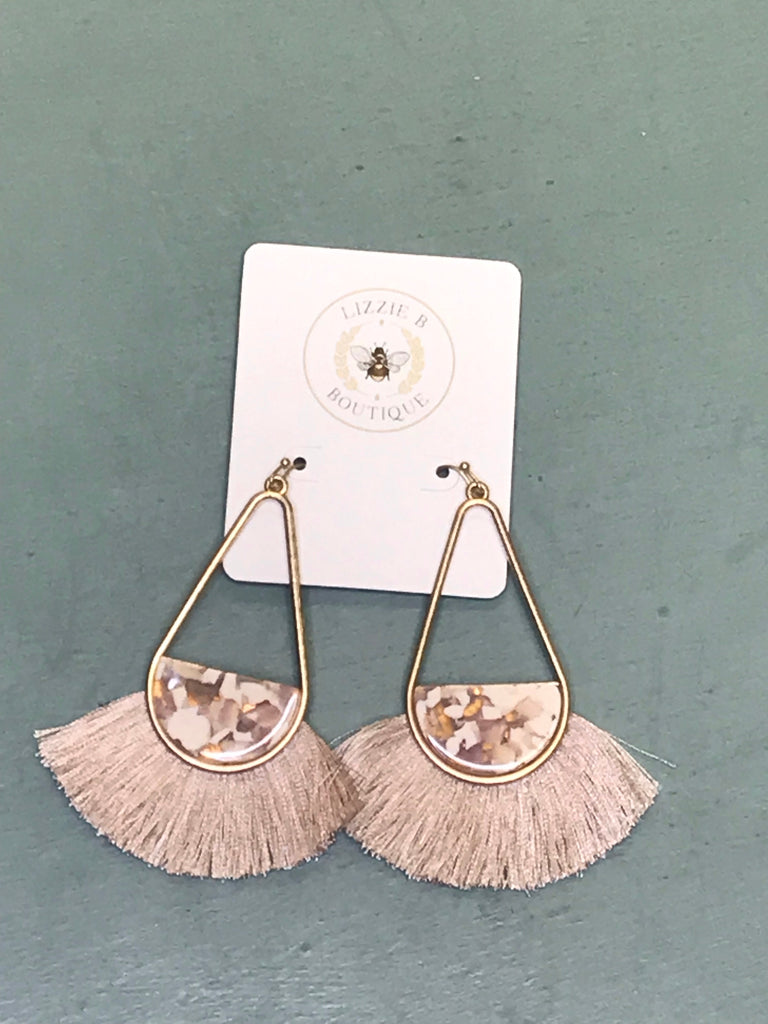 Tassel T Drop Earrings