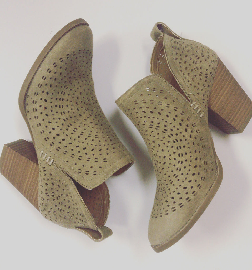 Racer Taupe Bootie
