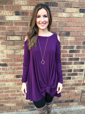 Cold Shoulder Flared Tunic