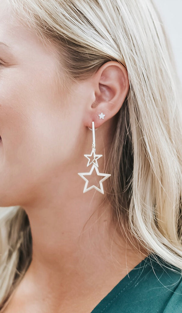 Star and Bar Earrings
