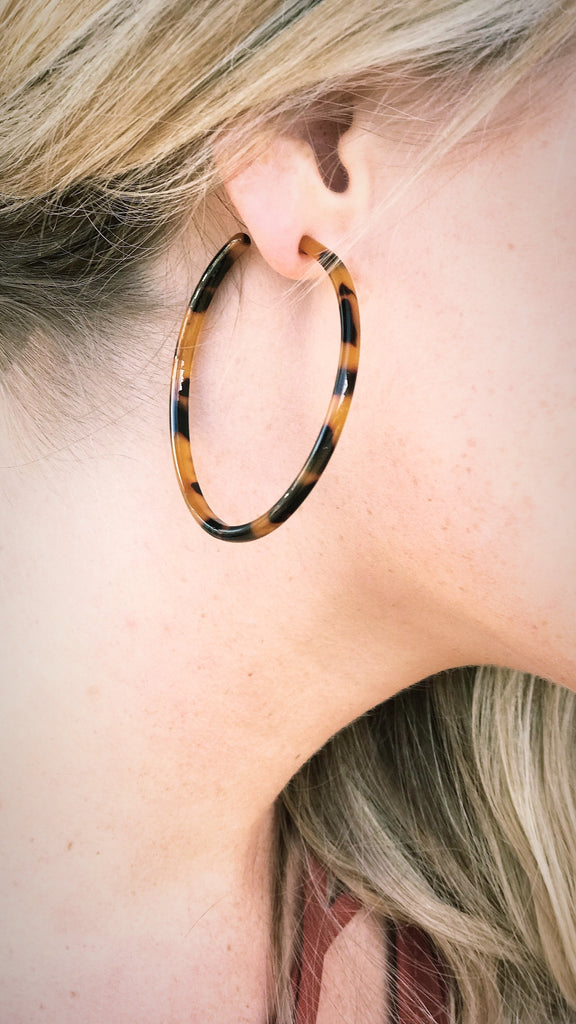 Harlott 55MM Thin Resin Hoop Earrings