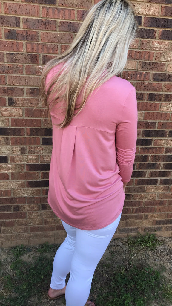 Mock Neck 3/4 sleeve top