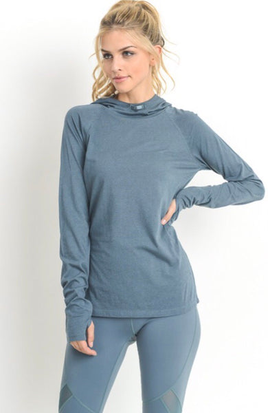 Athletic hoodie w/ Thumb hole sleeves and pockets
