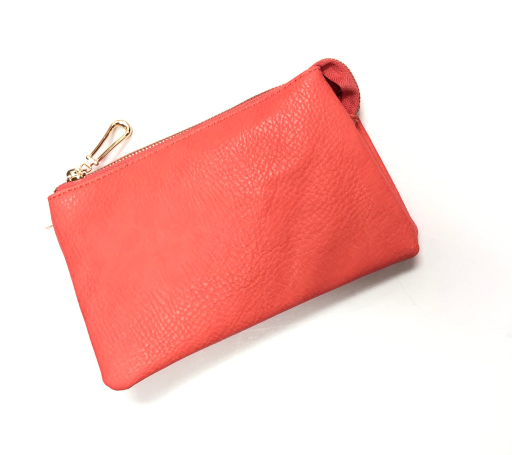 Three Compartment Clutch/Crossbody