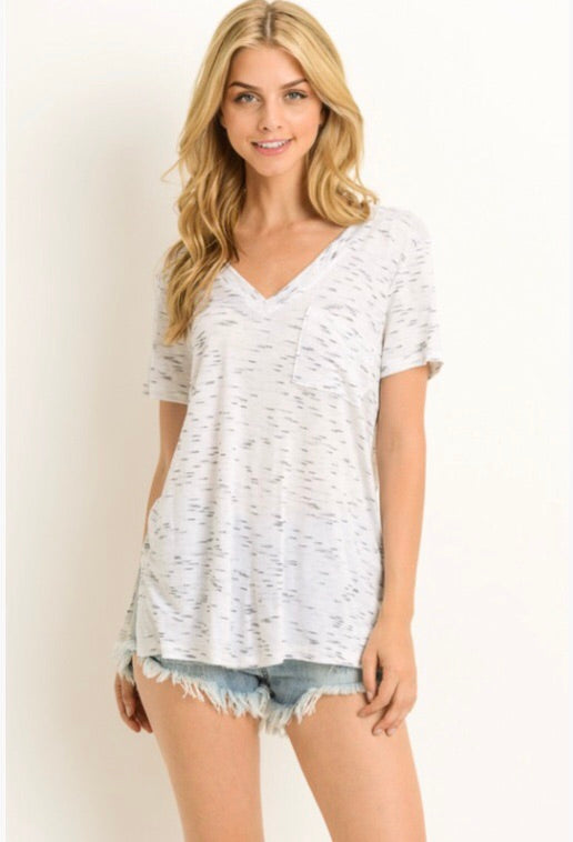 Easy Going V Neck Top