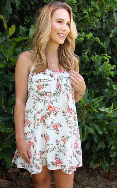 Floral Ruffle Dress with Spaghetti Straps
