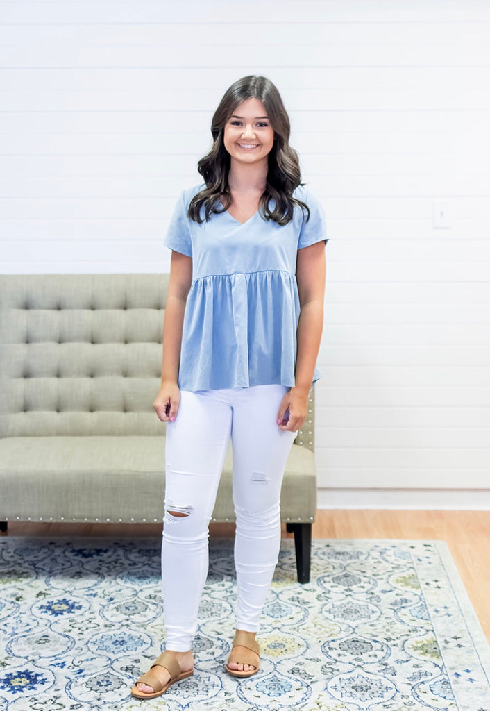 Blue Me Away Top