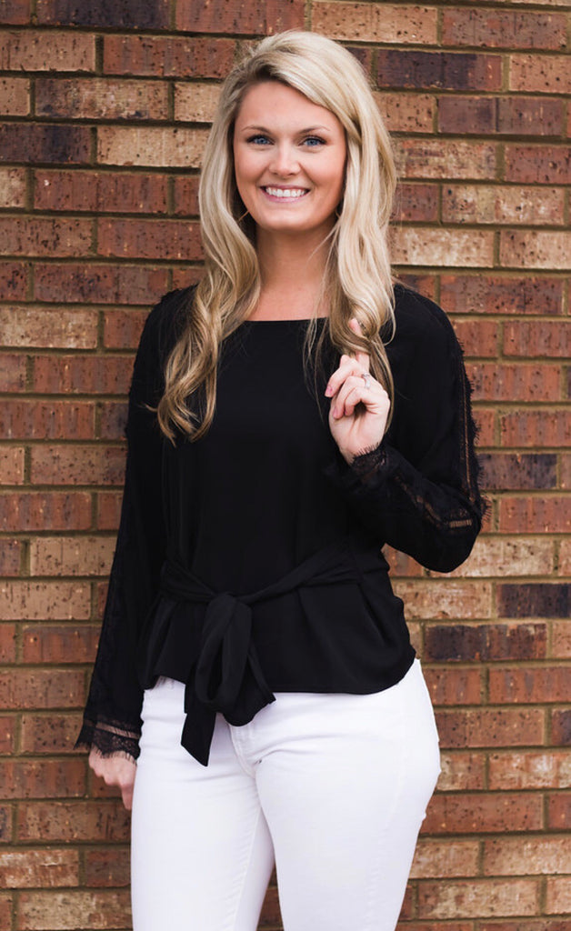 We Mean Business Side Lace Top