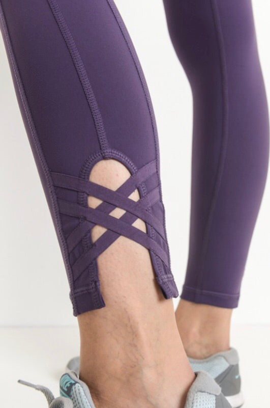 Athletic Leggings with Straps